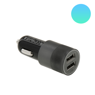 Dual USB autolader - Zwart